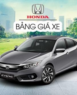 Bảng giá xe ô tô Honda 2020 và khuyến mãi mới nhất